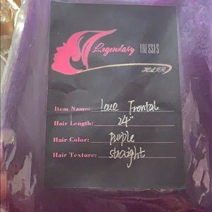 Legendarytresses purple hair bundles